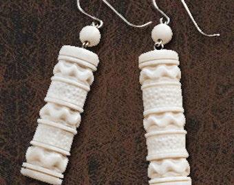 Elegant Makosh Earrings from a bone