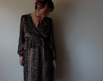1980s leopard Taurus II dress