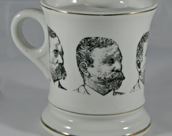 Vintage Mustache Mug with Lip Protector Facial Hair Beard Mug