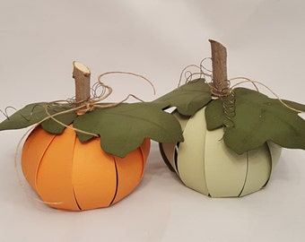 DIY Pumpkin | Pumpkin Place Card | Thanksgiving Place Card | Fall Kit | Papercraft Kit | Dimensional Kit