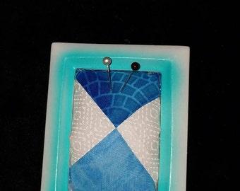 Blue Standing pin cushion