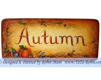 196 Autumn Harvest Sign Decorative Painting Pattern