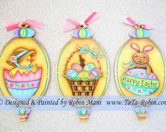 295 Happy Easter Ornaments Decorative Painting Pattern