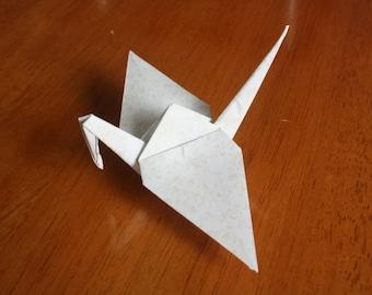 20 Origami Crane Wedding Favors Ivory W1/04