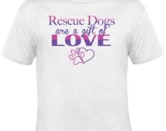 Dog T-shirt, Dog Themed shirt, Dog Theme, T-shirt, Custom T-shirt, Rescue Dog, Rescue Dog t-shirt