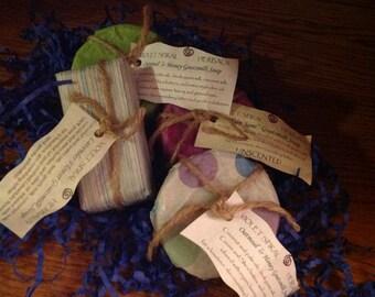 Handmade Goatsmilk Soap | Lavender Flower Soap | Oatmeal & Honey Soap | Plain Jane (unscented) Soap