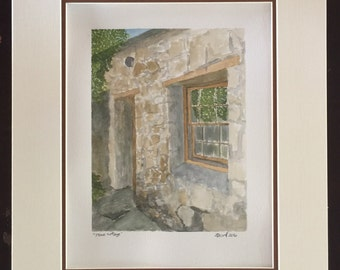 Stone Cottage - original watercolor painting
