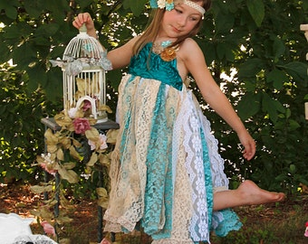 Tattered Lace Vintage Inspired Rosette Dress ~ Pageant ~ Photoshoot ~ Costume