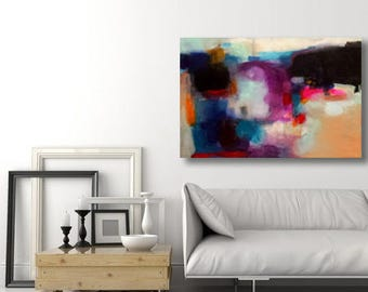 large paint colored abstract shapes