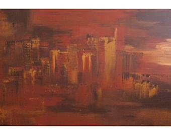 "Handmade acrylic painting ""Sun of Sin City"""