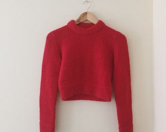 Urban Outfitters x Unif bright red cropped sweater / Size medium