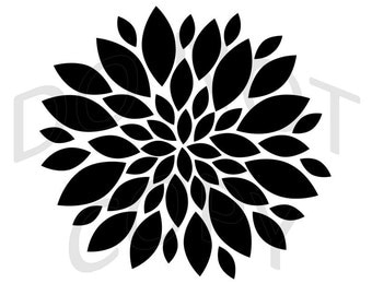 Reusable Stencil - Chrysanthemum Flower - Many Sizes to Choose from!