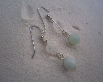 Faceted Rainbow Moonstone with Amazonite
