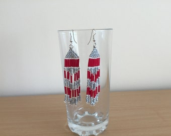 Various beaded handmade earrings made of Czech beads