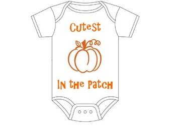 Fall Theme Onesie - Cutest Pumpkin in the Patch Infant Onesie