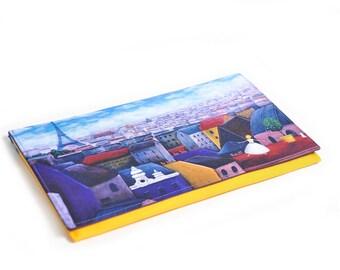 Unique Printed Design Handmade Envelope Clutch Paris Dance