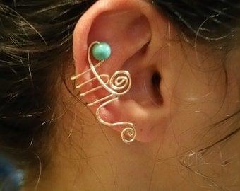Turquoise Whirl Earcuff