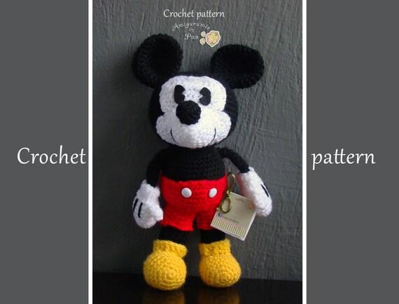 Mickey Mouse Amigurumi Schema : Mickey Mouse Amigurumi Pattern