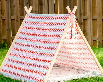 A-Frame Wooden Kid's Tent