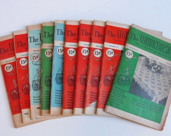 Lot of 10 The Workbasket 1953-1955 Vintage Magazines   (315)