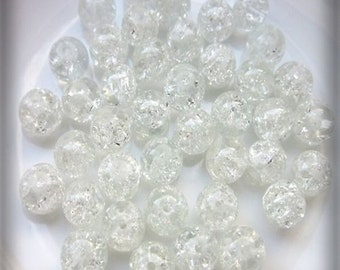 10 Cracle - 12 mm - crystal / H1-0237