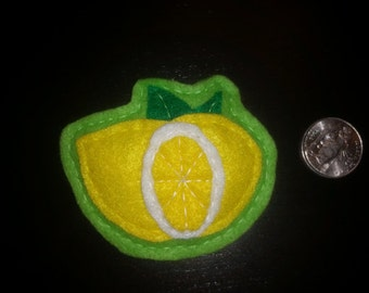 Lemon Felt Pin