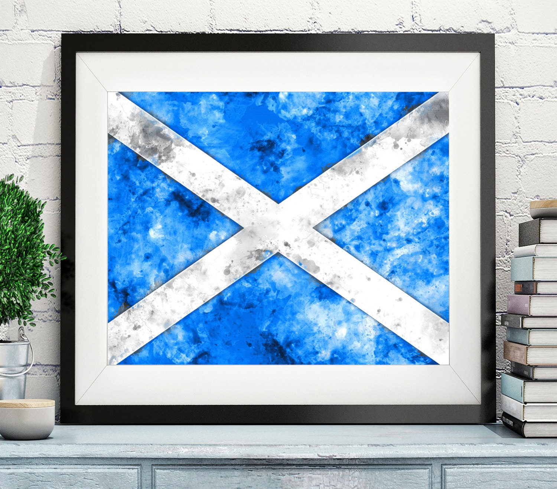 scotland flag art scotland flag print flag poster country flags