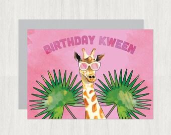 Birthday Kween card