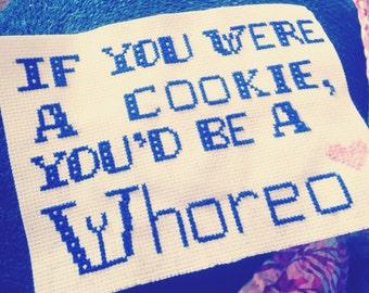 Funny insult cross stitch