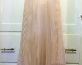 90s Strapless Chiffon French Connection Dress Light Pink size 4
