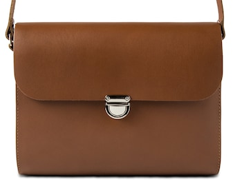 Brown Leather Crossbody/Shoulder Bag made in London