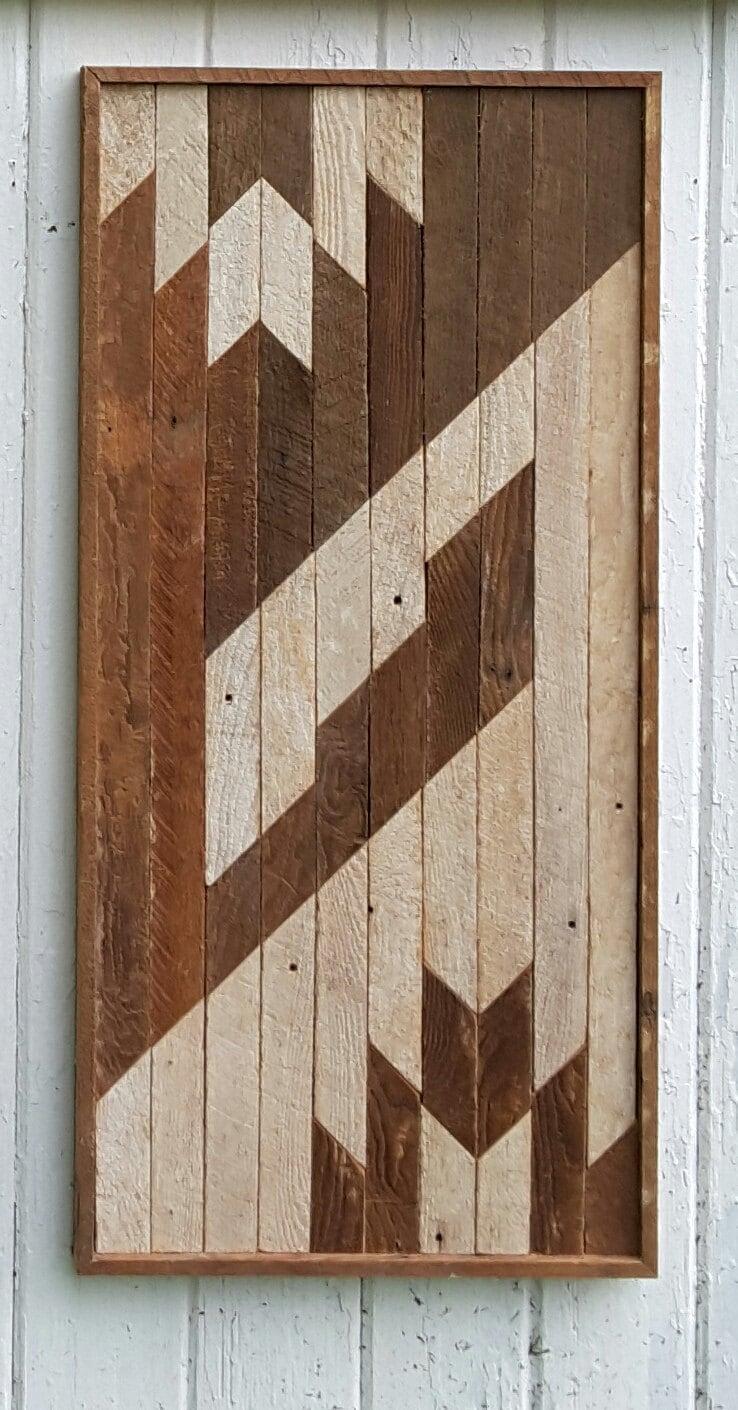 reclaimed wood wall lath art abstract art wood wall decor. Black Bedroom Furniture Sets. Home Design Ideas