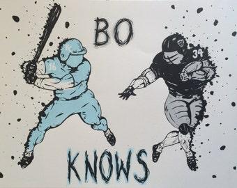 Bo Jackson-Bo Knows tribute artist original or print