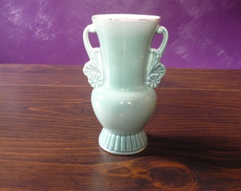 Royal Copley Vase -- green ombre
