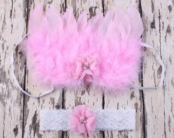 Newborn Angel Wings with Headband