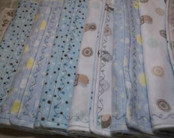 Baby Burp Cloths, Boy Burp Cloths, Blue Cloths