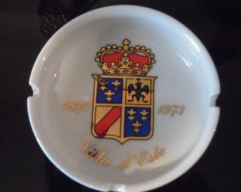 Richard Ginori Crown Crest Logo Ashtray