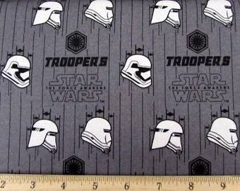 Star Wars The Force Awakens Grey Troopers Fabric By Camelot