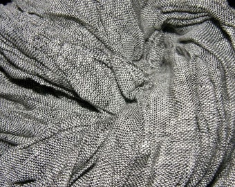 "Handmade #Grey #Natural 100 percent Linen Scarf ""Pavement"""
