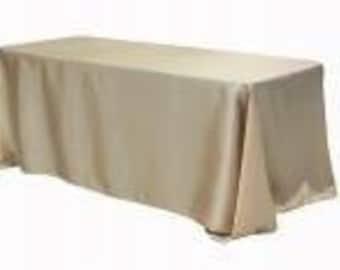 "90"" x 132"" Satin Rectangle Tablecloth"