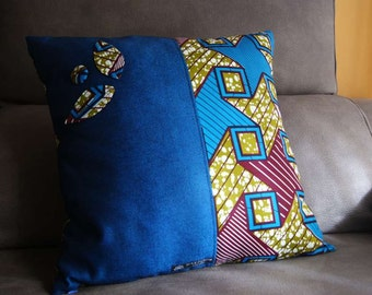 Colorful, unique and original cushions designed with African Wax Print fabric.
