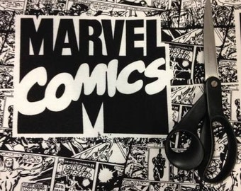 Black and White Marvel cotton Jersey