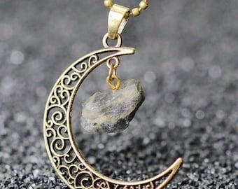 Vintage Moon Necklace