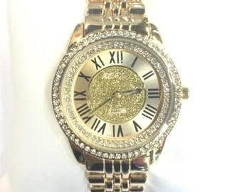 Vice Versa CZ Gold Ladies Watch