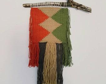 Rustic Autumn Fall Woven Wall Hanging   Woven Wall Art   Weave   Weaving
