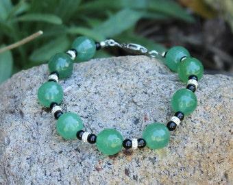 Jade Palace (Green, Black, Silver) bracelet