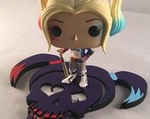 Custom base for Harley Quinn Funko *** Funko figure NOT included ***