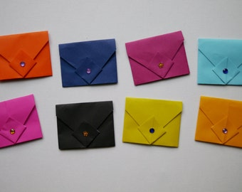Small origami envelopes x5 mixed colours
