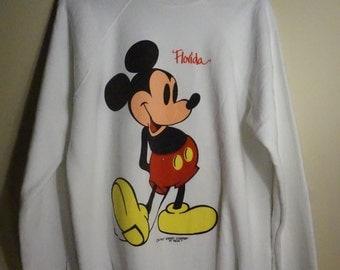 1980s Vintage Mickey Mouse Sweatshirt, Size XL