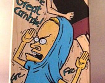 Custom Skateboard Art – Beavis and Butthead Painting – MTV - Fine Art